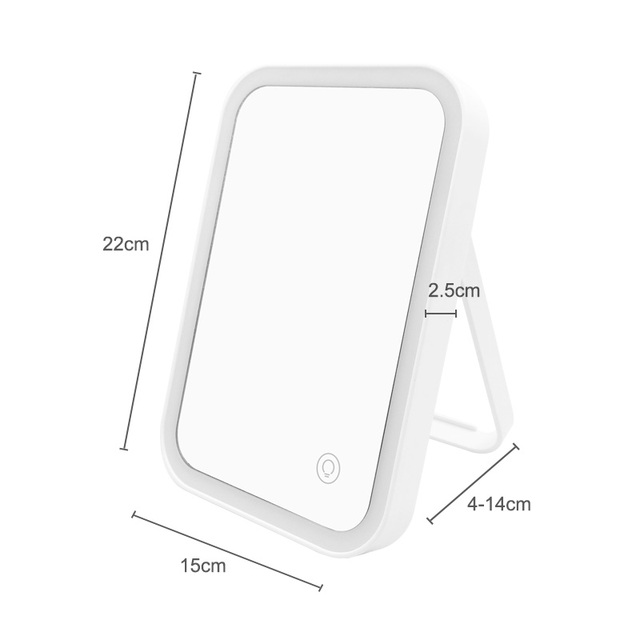 LED Backlit Mirror Home Desktop Charging ABS 3.7V/1.48W Folding Makeup Mirror With Lights Table Mirrors Cosmetic Lamp 4