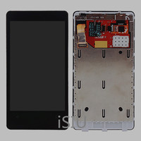 ISIU LCD Display For Nokia Lumia 800 Touch Screen Digitizer Panel 3 7 Assembly Bezel Frame