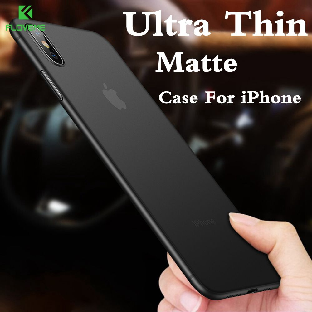 Phone-Case Back-Cover Shockproof Ultra-Thin Matte for 7 XR XS Max Xs-X-0.38mm Funda PP
