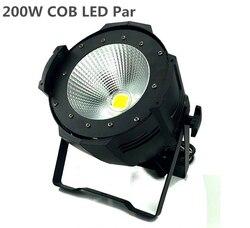 Stop aluminium LED par 200W COB ciepły biały zimny biały 2w1 stroboflash LED Par może Par64 reflektory LED oświetlenie dj Dmx controll