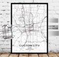 Пользовательские карты города любой город персонализированные карты печати индивидуальные карты холст Художественная печать на холсте пл...