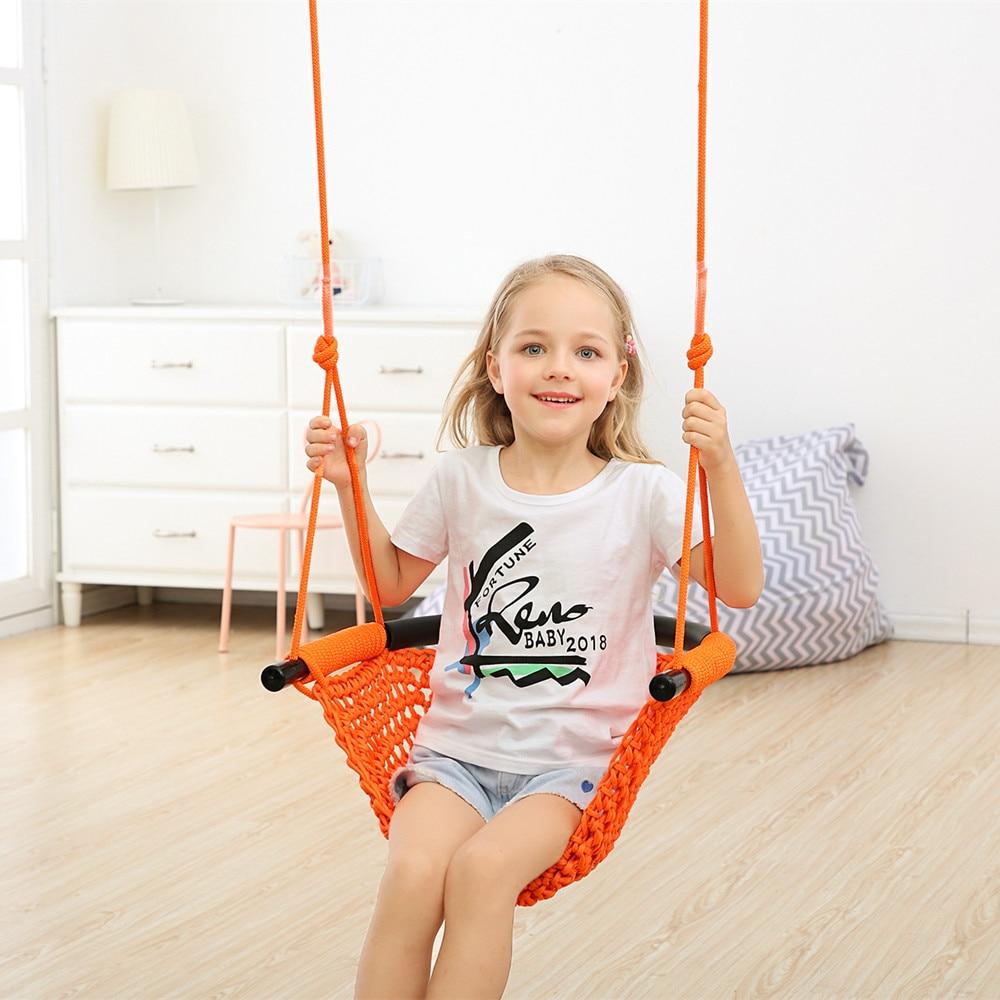 1 pièces d'enfants suspendus chaise balançoire hamac intérieur extérieur Patio chaise balançoire enfant jouets Max portant 300KG - 2