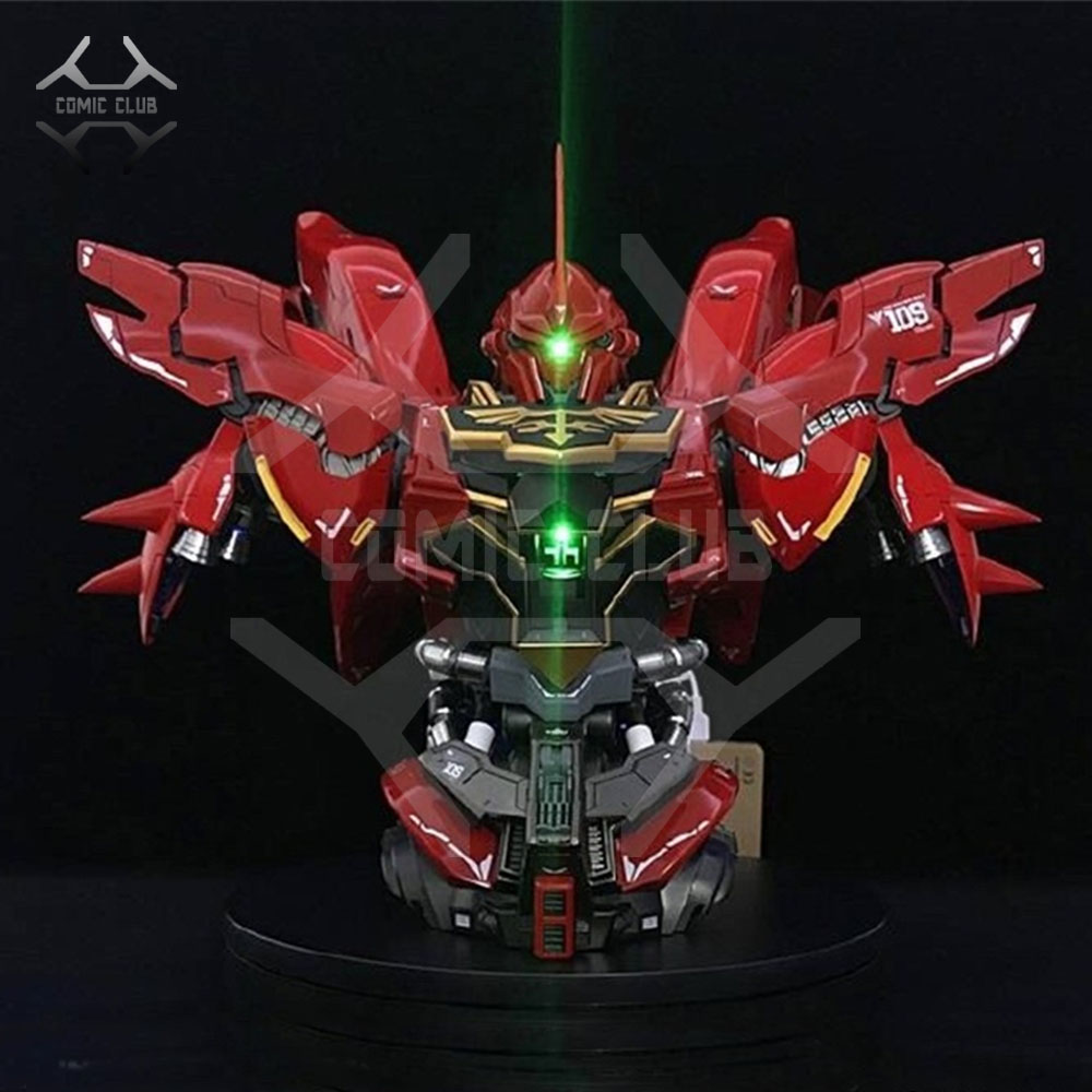 COMIC CLUB IN-STOCK 1/35 YIHUI BUST HEAD SINANJU Gundam assembly model contains led light action figure toy image