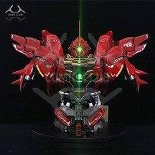 Comic club in stock 1/35 yihui busto cabeça sinanju gundam montagem modelo contém led luz figura de ação brinquedo