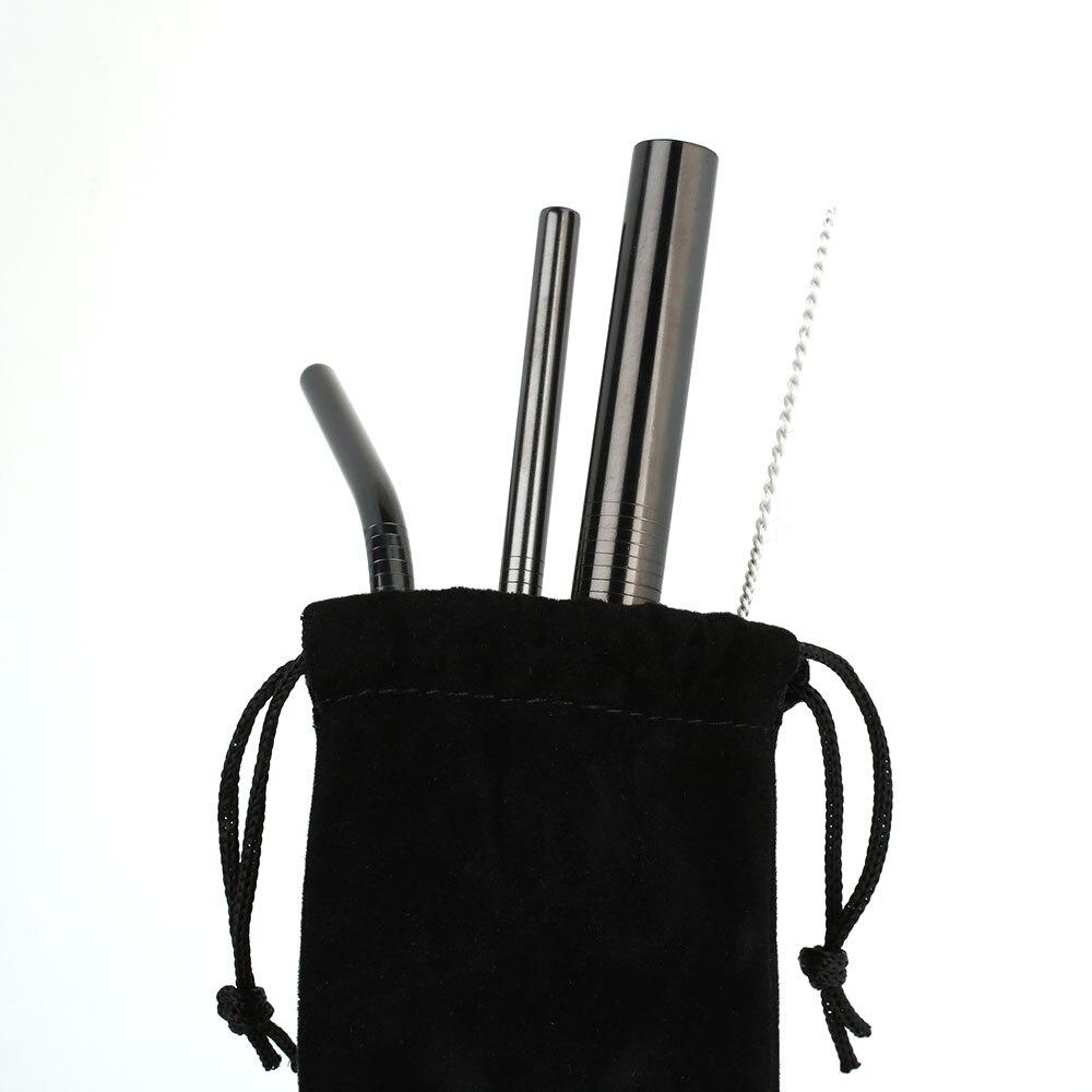 5 шт./компл. питьевые соломки присоски металлическая соломинка тропический вечерние Нержавеющая сталь Кухня посуда Кухня поставить Кухня инструмент