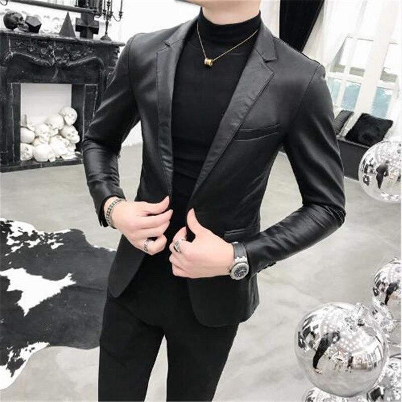 Del Di Vestiti Uomini Elaborazione Cappotto Affari Degli Giacche Black Per  One Nero Vestito Coreano Button Giacca ... da9eba79f010