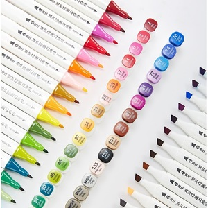Image 4 - שני טיפ מגע כתיבה 12/18/24/36 צבעים אמנות סמן סקיצה עט סט עבור ציור מנגה אנימציה אמן אלכוהול מבוסס מברשת F556