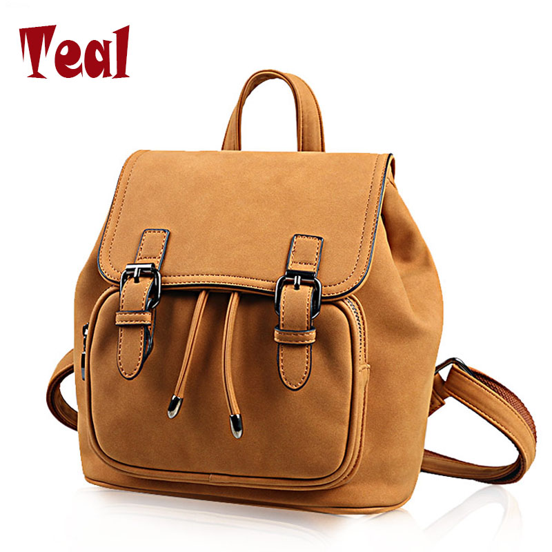New Backpack Women Leisure Student Schoolbag Soft PU bag high quality famous brand designer American style big capacity backpack dermis women bag 2016 new leisure backpack camouflage personalized backpack korea institute of wind schoolbag