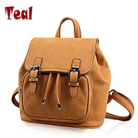 New Backpack Women Leisure Student Schoolbag Soft PU Bag High Quality Famous Brand Designer American Style