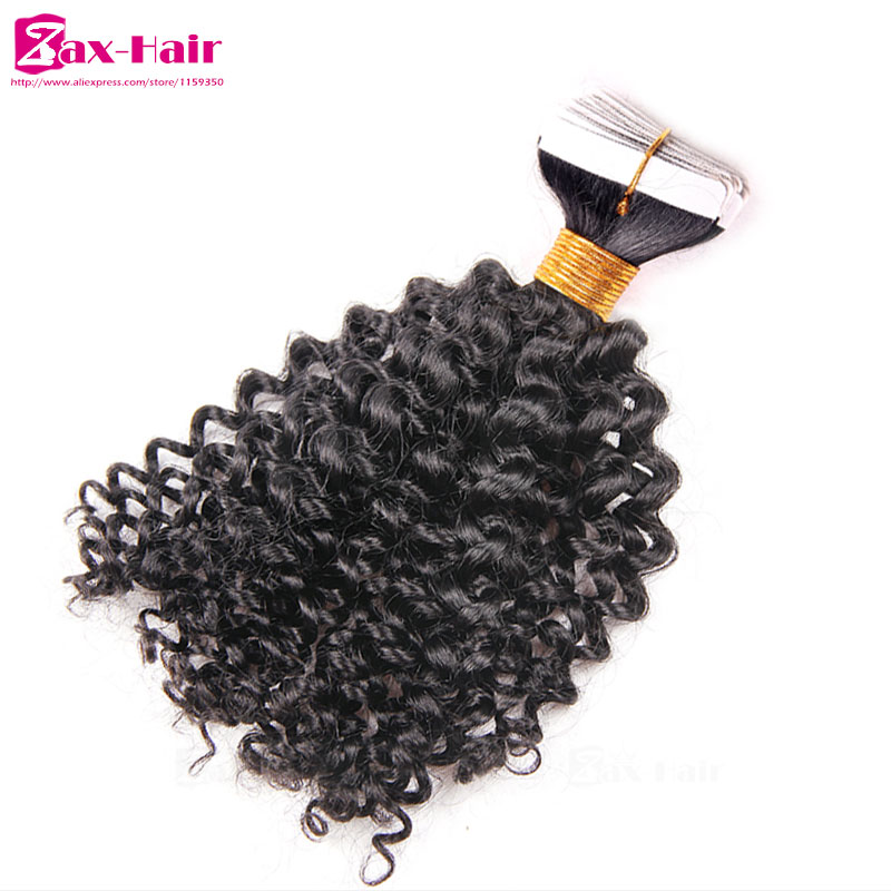 Kinky curly tape hair extensions top quality hair in extension kinky curly tape hair extensions top quality hair in extension tape brazilian virgin human hair skin weft 40pcs 25g customized in skin weft hair extensions pmusecretfo Images