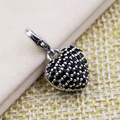 TS Jewellery 925 Sterling Silver Black Zirconia Solid Heart Charms Fit Bracelet Bag Thomas Style Charm Club Jewelry for Women