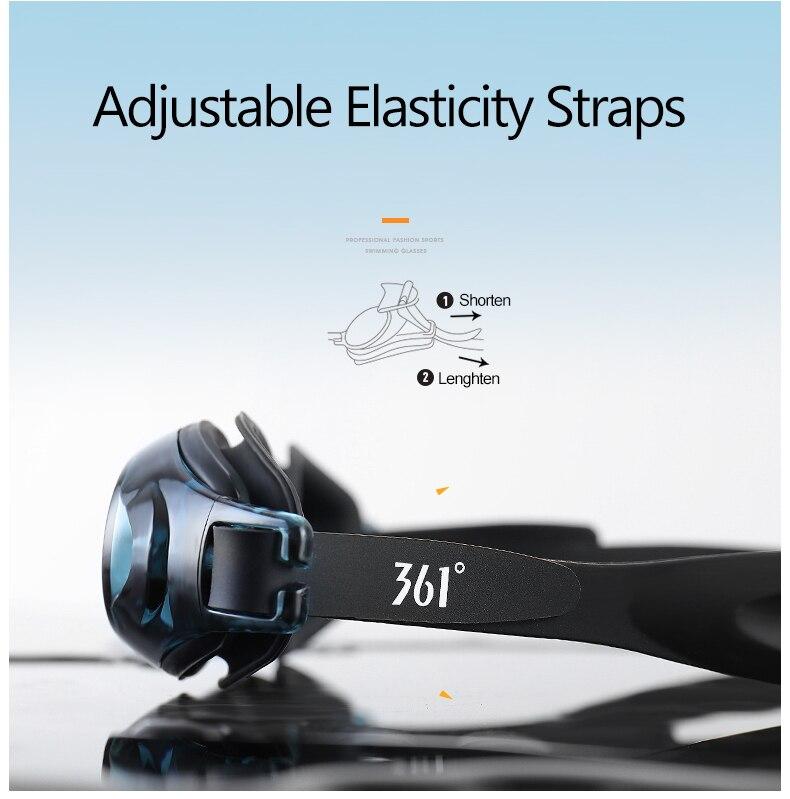 Unisex Professional Myopia Silicone Swimming Pool Glasses Anti Fog Waterproof 18