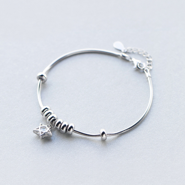 New Fidget Toy 925 Sterling Silver Bracelet Worry Bead For Women Autism Adhd