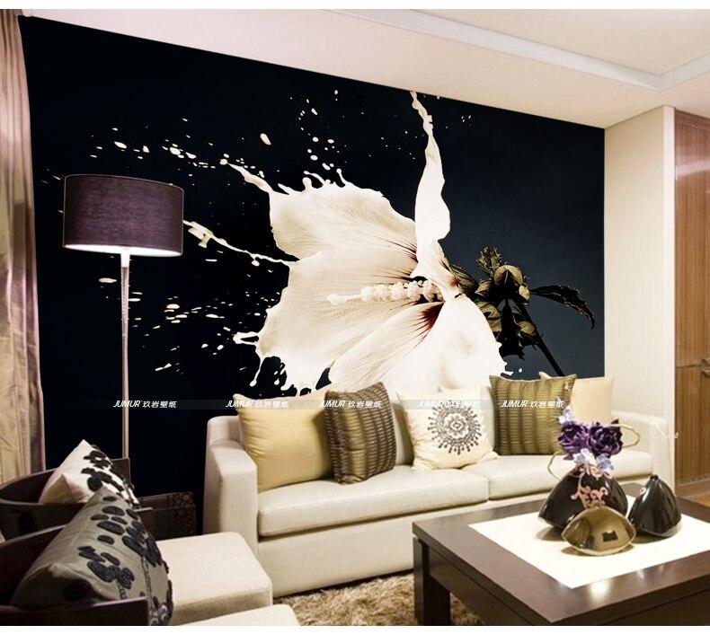Benutzerdefinierte 3D Wallpaper Milch Blumen Foto Tapete Schlafzimmer Wohnzimmer  Designer Hibiscus Tapete TV Hintergrund Wandbild Kunst Room Decor In ...