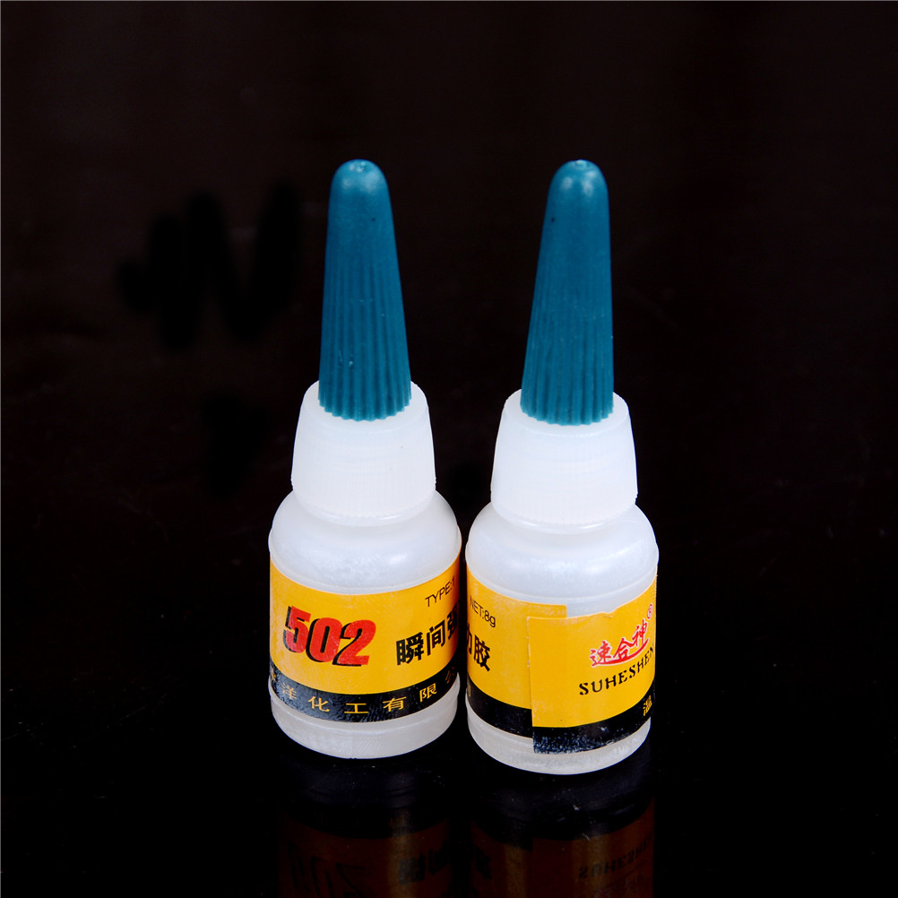 2Pcs/lot 502 Super Glue Instant Quick-drying Cyanoacrylate Adhesive Strong Bond Fast Crafts Repair