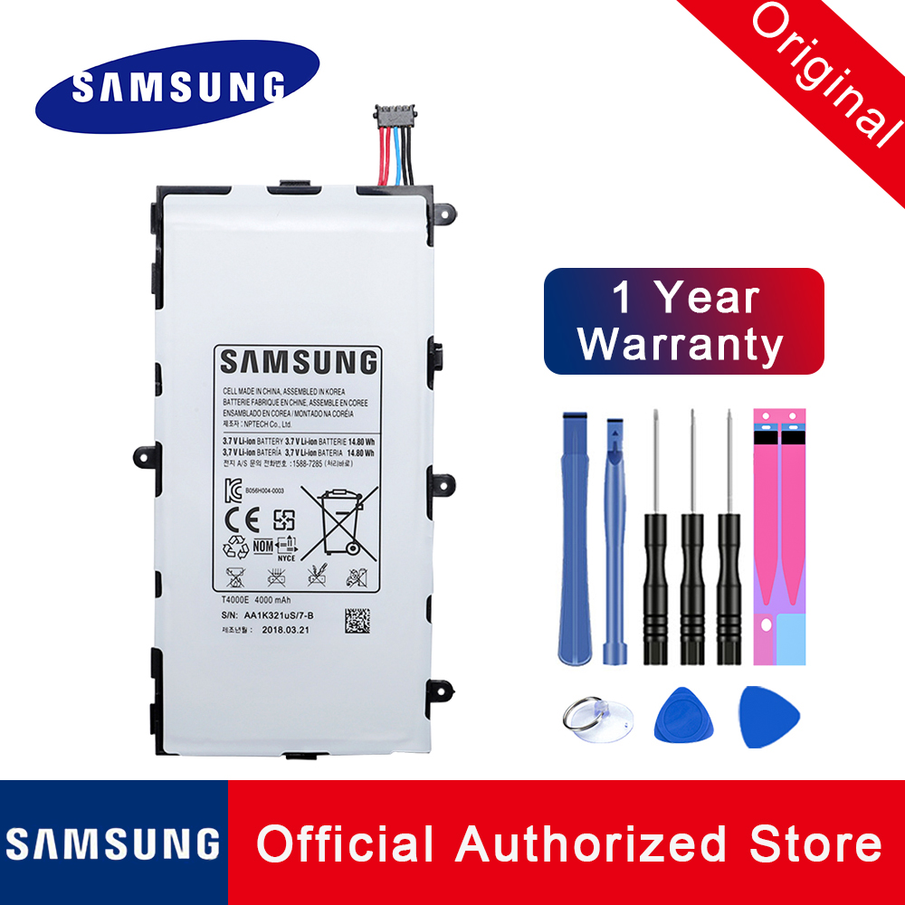 New Tables Battery For Samsung Galaxy Tab 3 7.0 T210 <font><b>T4000E</b></font> T211 SM T215 GT P3200 P3210 Replacement Batteries Tablet +Free TOOLS image