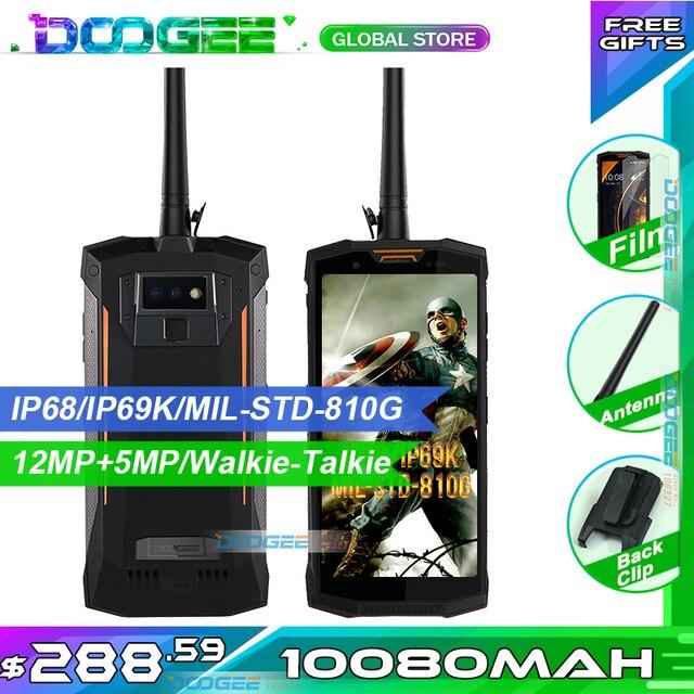 Szybka wysyłka IP68 DOOGEE S80 wodoodporna, odporna na wstrząsy 10080 mAh 5.99 ''MT6763T 6 GB 64 GB smartfon 16MP kamera FHD +