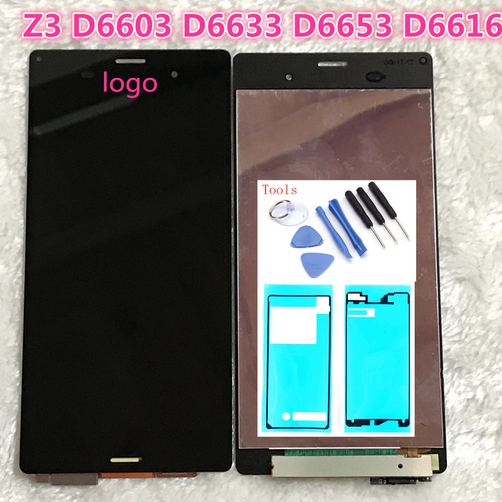 5.2'' LCD For SONY Xperia Z3 LCD Display Touch Screen D6603 D6616 D6653 D6683 Replacement for SONY Xperia Z3 LCD Dual D6633