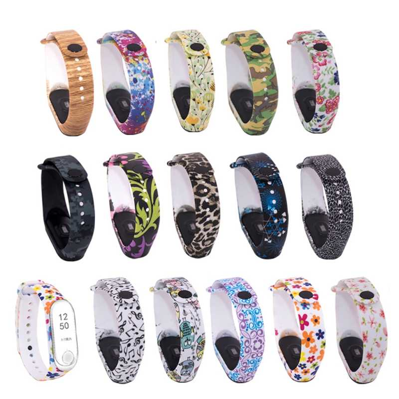OOTDTY 15 Styles Newest Colorful Replacement Silicone Wrist Strap Watch Band For Xiaomi MI Band 3 Smart Wearable Accessories