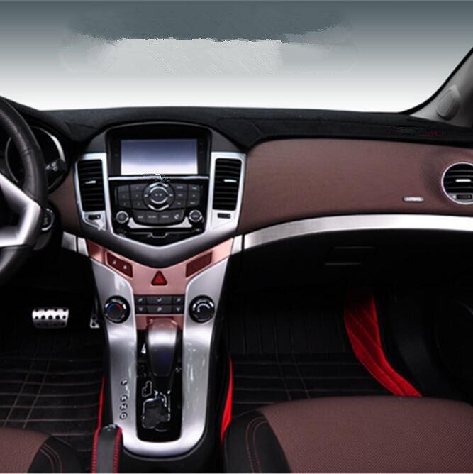 Стайлинга автомобилей из нержавеющей стали внутренняя центр приборной панели бардачок отделкой наклейки чехол для Chevrolet Cruze 2009-2015, автомоби... ...