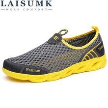 LAISUMK 39-45 Casual Shoes Breathable 2019 Men Summer Comfortable Slip On