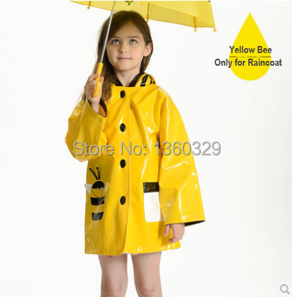 Japanese Style Thickening Cartoon burberry kids Raincoat Yellow Red Green Poncho with hood Baby Rainwear Children