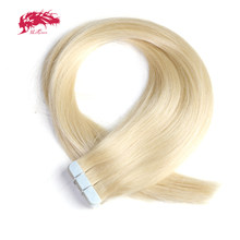 "Ali Queen Hair 18"" 20"" 22"" Remy Human Hair Extensions 2.5g/stand 20pcs/pack Color #1b #613 #27 #4 Tape In Hair Skin Weft 50g(China)"