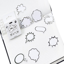 45pcs/pack Black And White Bubbles Series Paper Decorative Scrapbook Sticky Adhesive Label DIY For Notebook