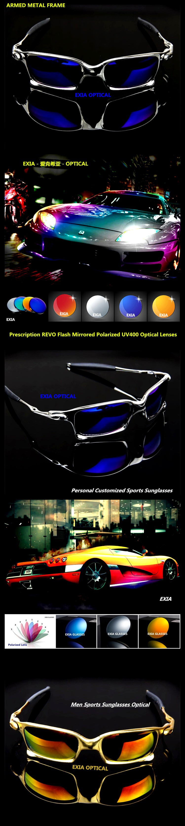 47dc3a8455 Luxury Sunglasses REVO Mirror Prescription Optical Polarized Sun ...