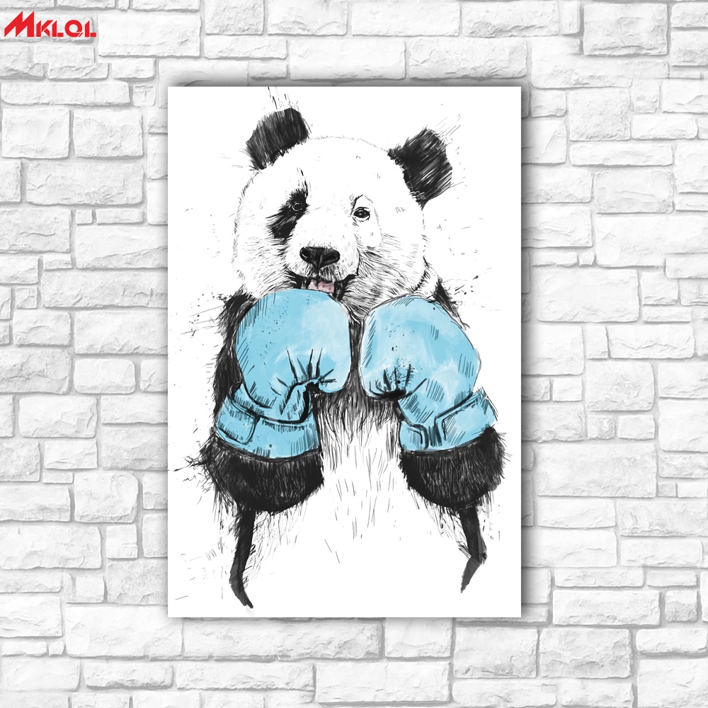 Large Wall Art, panda,Restaurant study Bedroom Decor Wall oil Painting Print Nice wall picture for living room no frame Boxing image