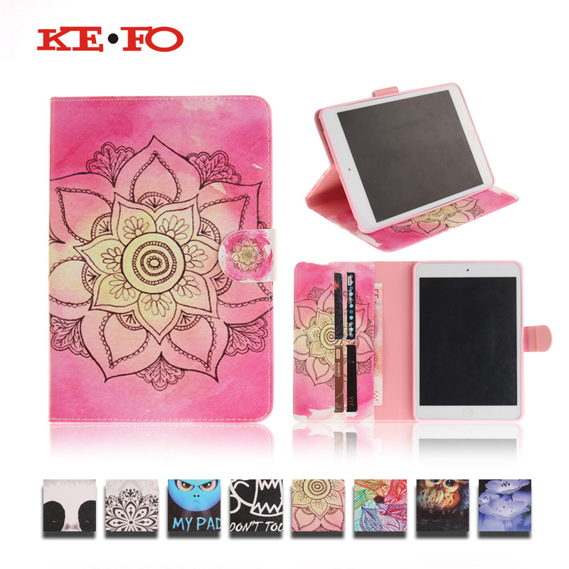 For Apple iPad mini Case A1600,KeFo Leather Flip Stand Case For iPad mini 1 2 3 mini2 mini3 Funda Flip Case Tablet Accessories