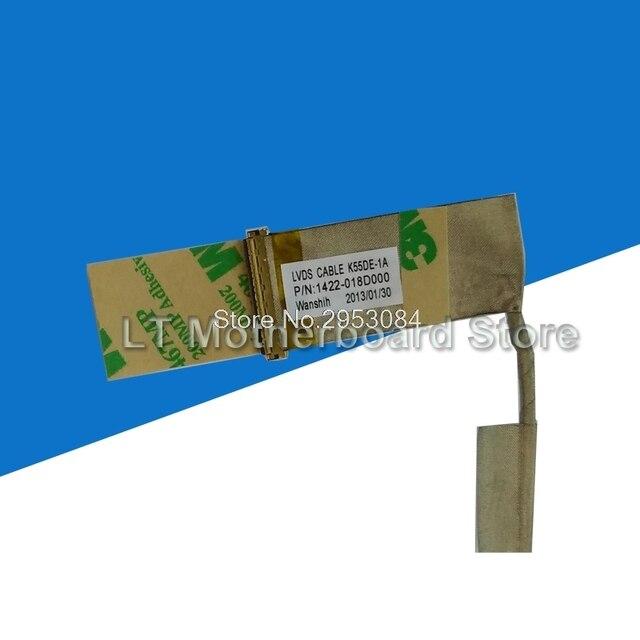 Original pour ASUS K55D K55DE K55DR K55N A55D 1422-018D000 ordinateur portable LED LVDS LCD vidéo câble flexible ligne décran