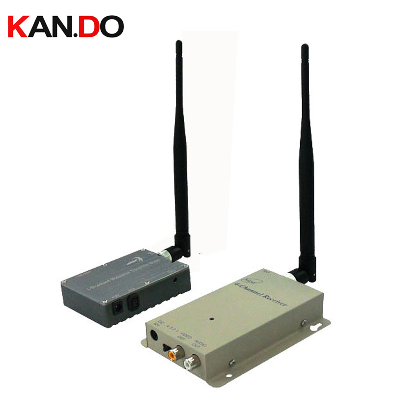 Satellite transmission 43km 6W Made in Taiwan 1.2G Video Audio transceiver video Transmitter for FPV 1.2G drone tranmission image