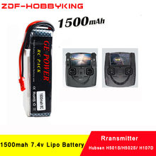 2018 New ZDF High Quality 1500mAh 7.4V Battery for Hubsan X4 PRO transmitter / H501S/H502S/ H107D remote controller FPV2(China)