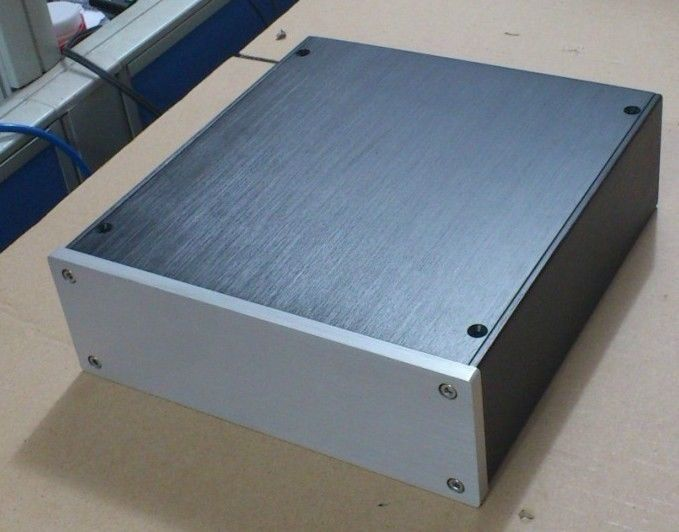 WANBO font b Audio b font 2207 aluminum amplifier enclosure chassis amplifier DAC case preamplifier diy