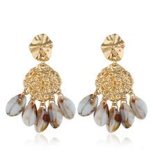 New Irregular Shape Gold Sea Shell Earrings for Women Summer Beach Jewelry Earring Natural Dangle Earings Fashion