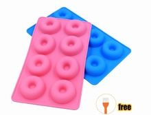 NEW 1 Pack 8 Cavity Donut Shape Silicone cake Mold for Cake Bread Cupcake Cheesecake Cornbread Brownie pudding candy HOT Sale