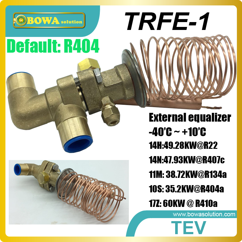 14TR TEV ensures the rate of refrigerant flow into the evaporator exactly matches the rate of evaporation of liquid refrigerant