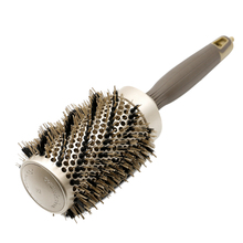 New Gold Boar Bristle Hair Curly Brush Round Ceramic Ionic Brushes With Tail Natural Styling Curling Comb 4 Size