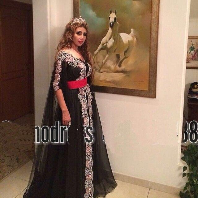 Middle East Vestido Longo 2018 V-neck Half Sleeve Appliques Lace Arabic Dubai Long Evening Prom Gown Mother Of The Bride Dresses