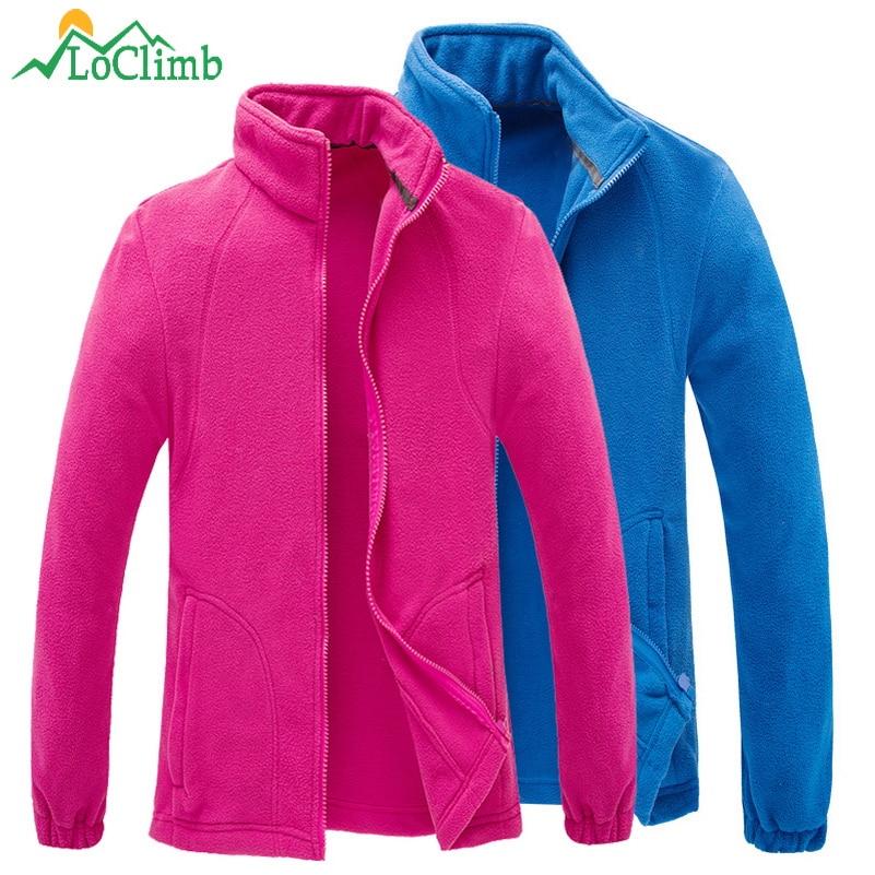 LoClimb Outdoor Hiking Fleece Jacket Women Men Winter Warm Camping Tourism Coats Climbing Trekking Ski Sport Jackets AM132