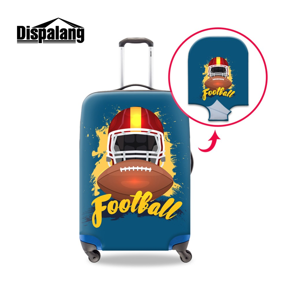 Dispalang 3D Rugbyl Picture Baggage Protective Cover For Ladies Trolley Suitcase Elastic Trunk Case Girl Dust Covers With Zipper