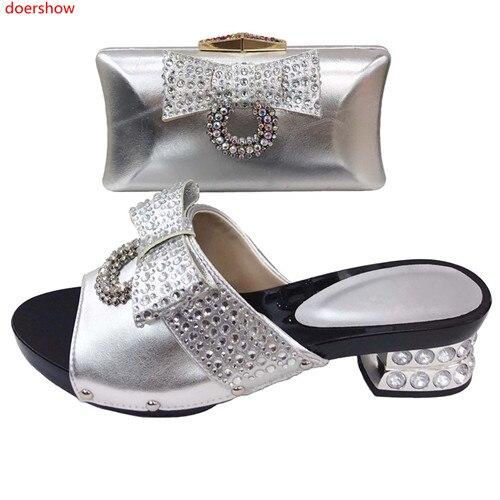 a2fd7ce4848c27 Argent Avec Partie argent Bal Africain Sacs 30 bleu jaune Doershow  Chaussures Noir Ensemble De Femmes ...