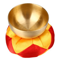 Yoga Tibetan Bell Metal Buddhism Singing Bowl Yoga Meditation Healing Wood Hammer With Hand Stick Metal