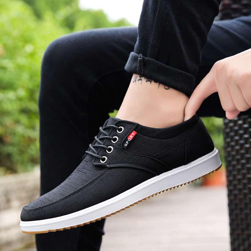 Men Casual Shoes 2019 Canvas Shoes Men Breathable Casual Sneakers Canvas Men Shoes Light Walking Male Shoes Chaussure Homme