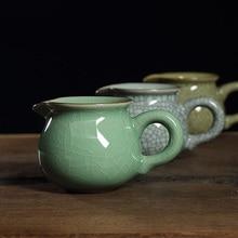 Handmade Seladon Messe Tasse Authentische Longquan Celadon Öffentlichen Tasse Porzellan Teekanne Keramik Tee-Set Kungfu Tee Zubehör