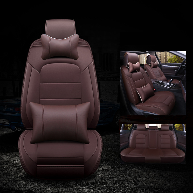 kalaisike leather universal car seat covers for <font><b>Mercedes</b></font> Benz all models E C ML GLK GLA CLA CLS GLE GL SLK G GLS S <font><b>A</b></font> B CLK class image