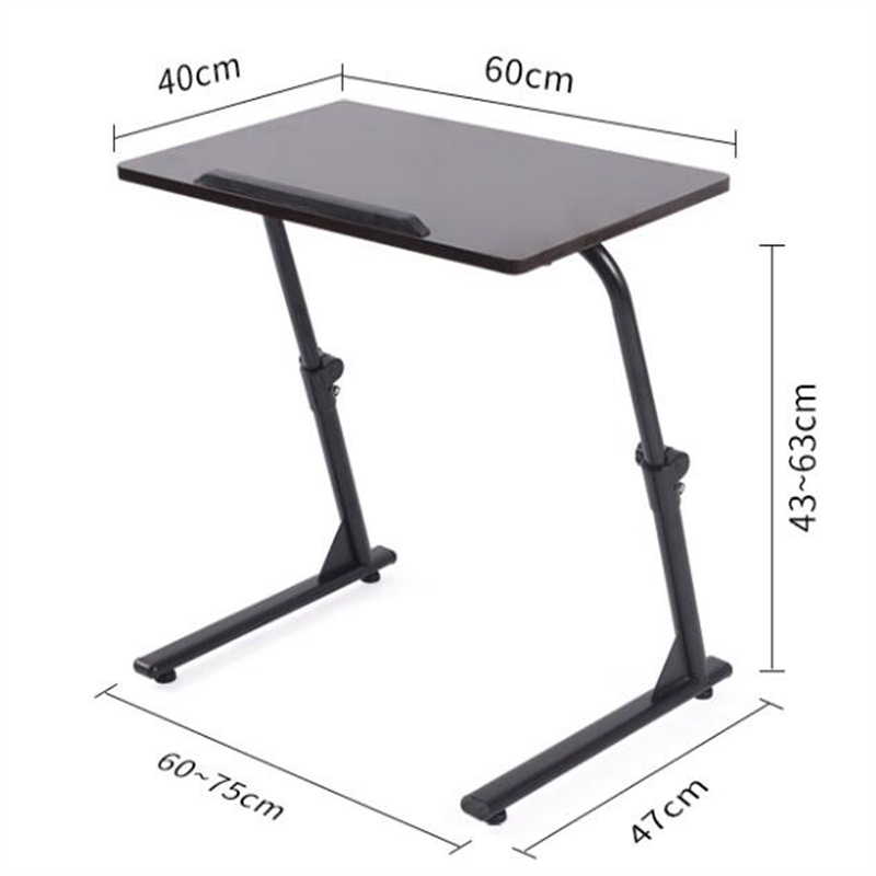 60*40CM Height-Adjustable Laptop Table Folding Lazy Notebook Table Lift Bedside Table Modern Sofa Side Desk
