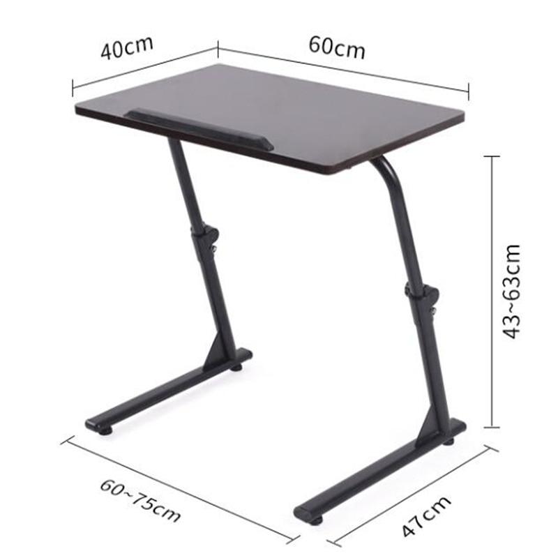 60*40CM Height-Adjustable Laptop Table Folding Lazy Notebook Table Lift Bedside Table Modern Sofa Side Desk