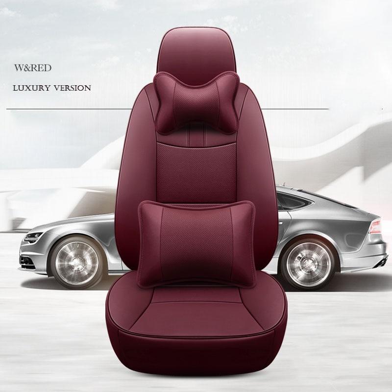Housse de siège de voiture en peau de vache personnalisée 7 sièges en cuir pour Cadillac Escalade SRX Audi Q7 Acura MDX auto accessoires décoration autocollant